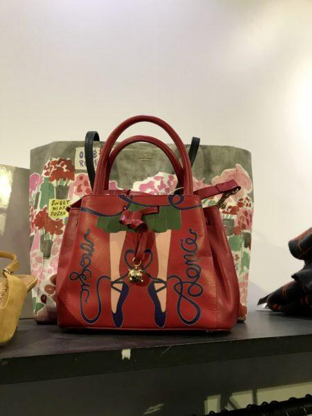 red Handbag at La Piscine Bourgeois Outlet Store Marais