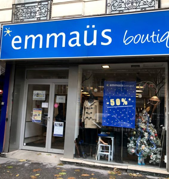 charity shops paris thrift store emmaus