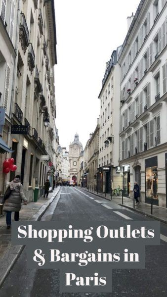 Shopping Paris Outlets and bargains