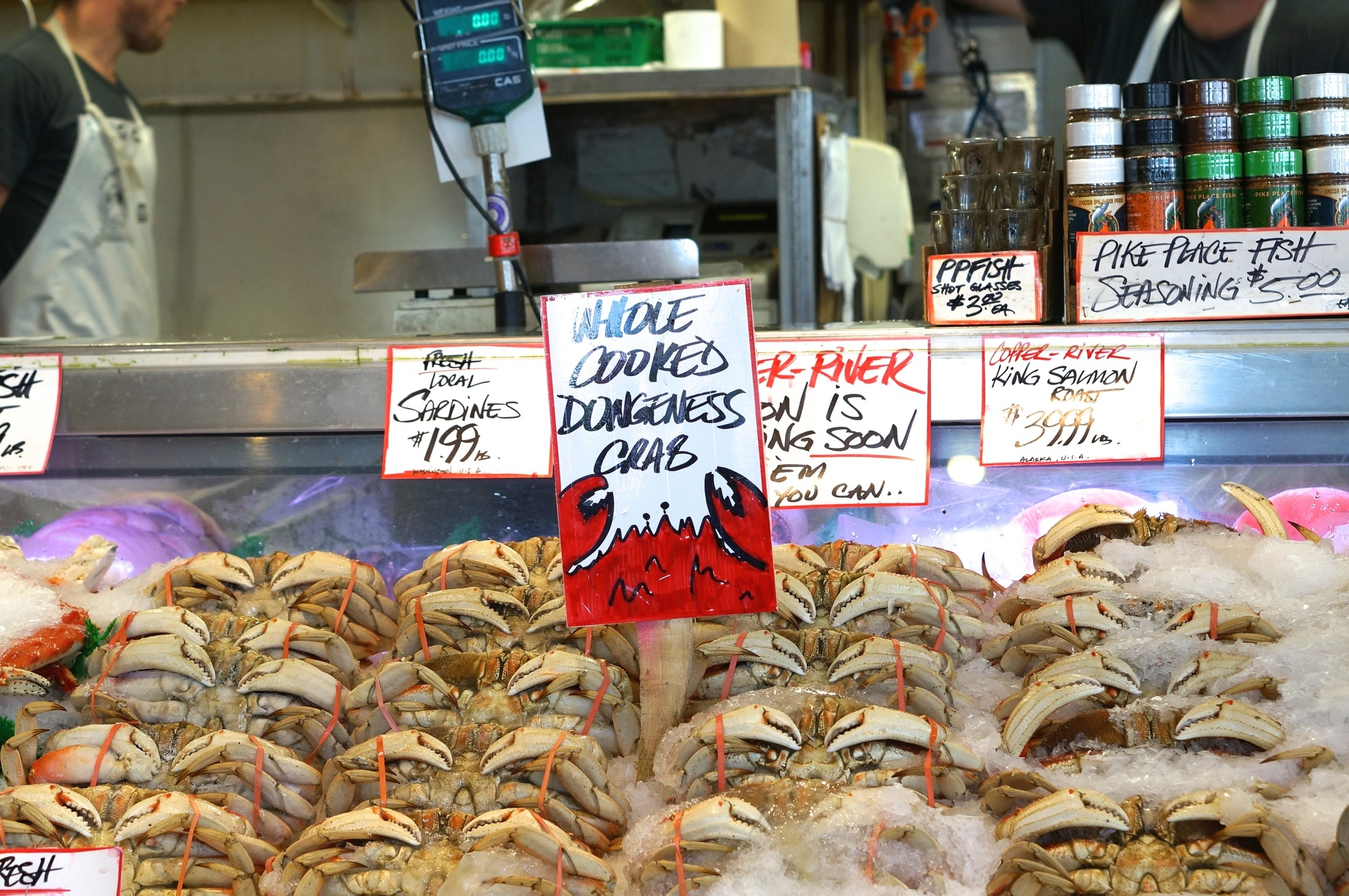 Sweet whole dungeness crabs pike place market