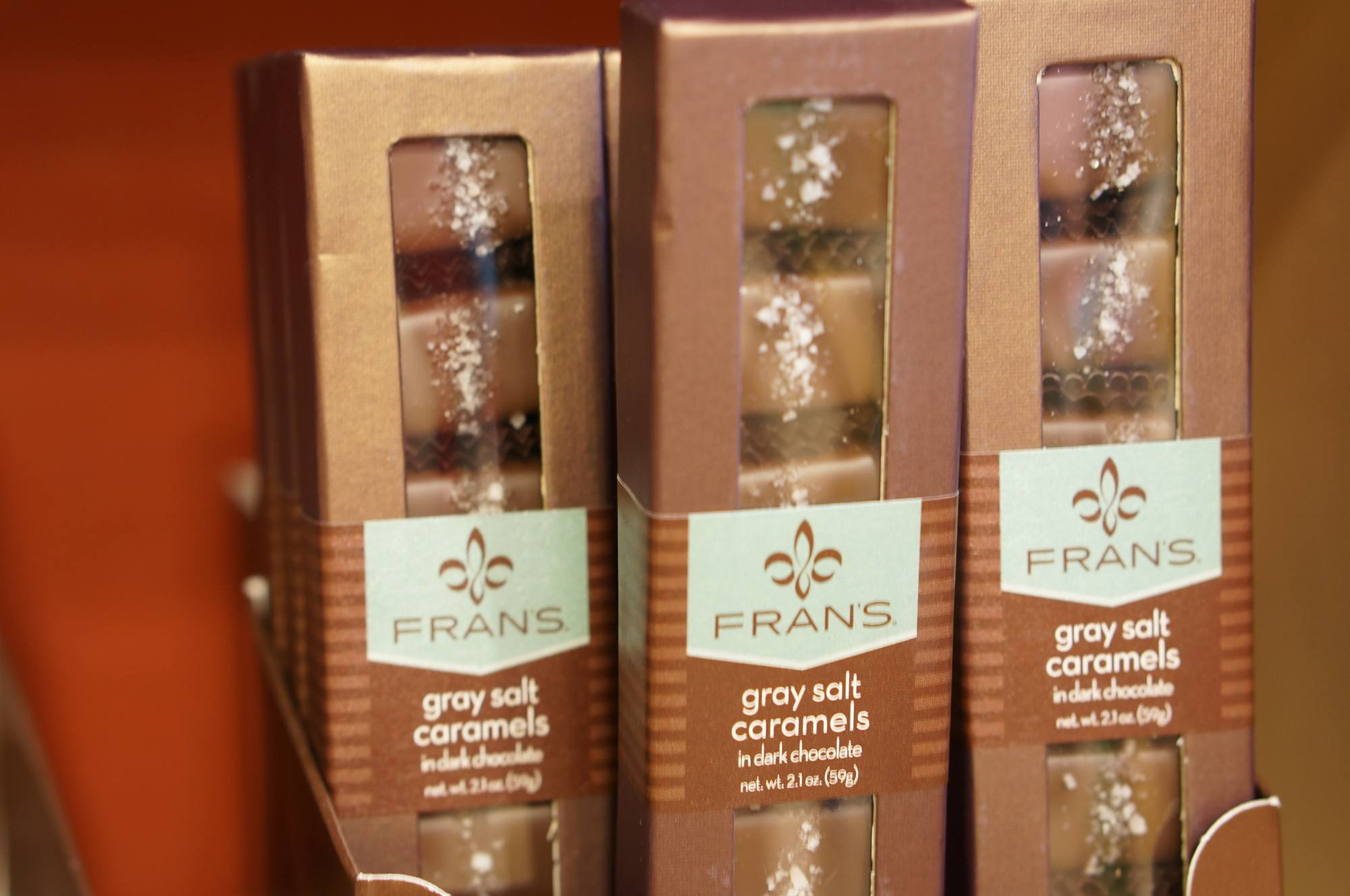 Fran's grey salt caramels, a perfect Seattle souvenir.