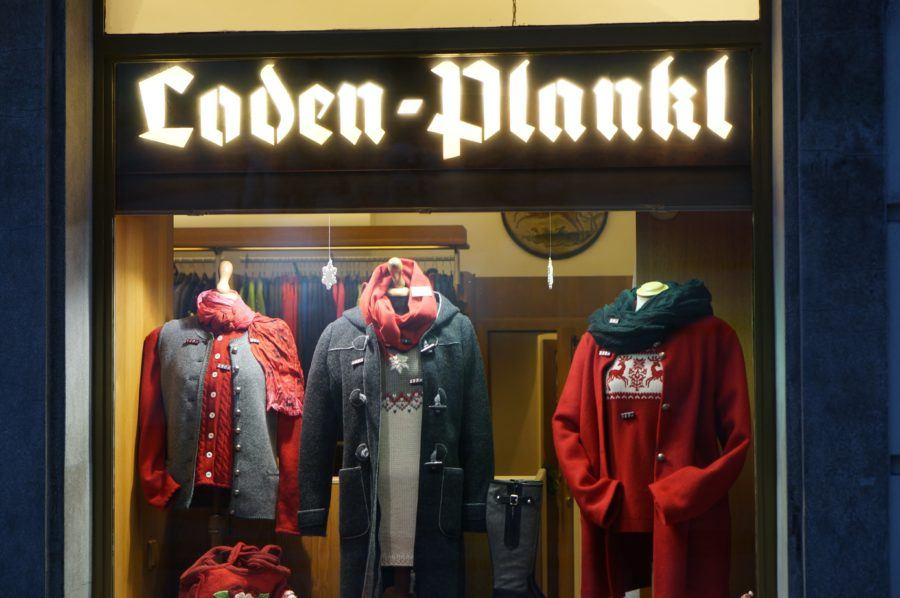The best store for traditional Viennse clothing, Loden-Plankl