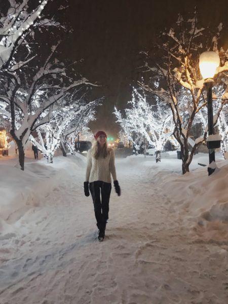 Aspen village after a heavy snowfall.