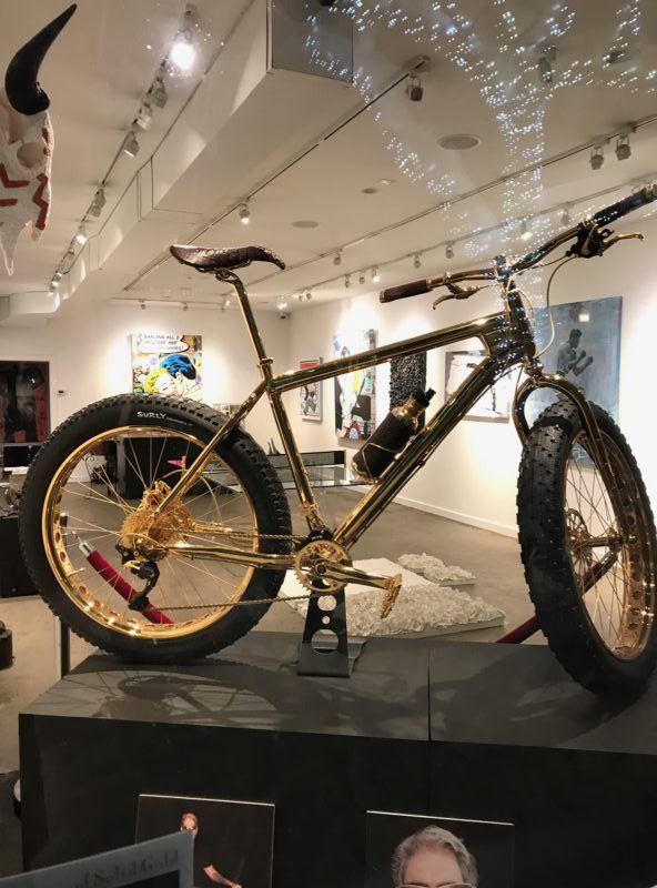 gold bike 24 karat aspen