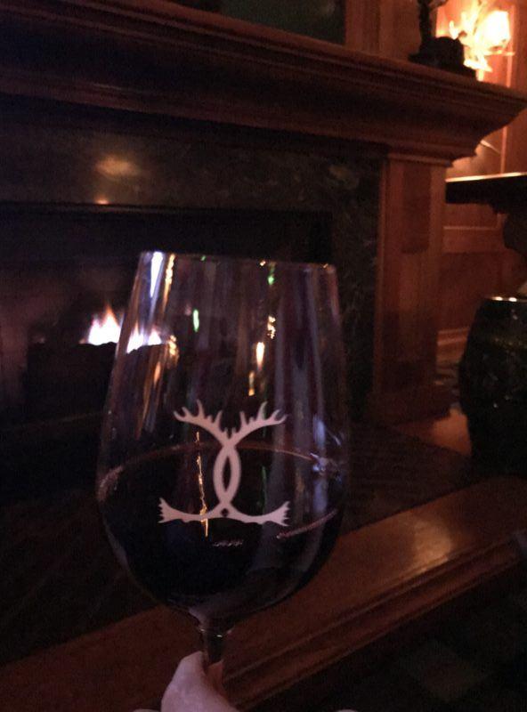 caribou club wine glass aspen