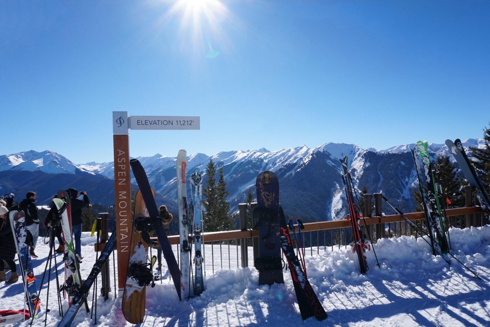 Aspen mountain top views
