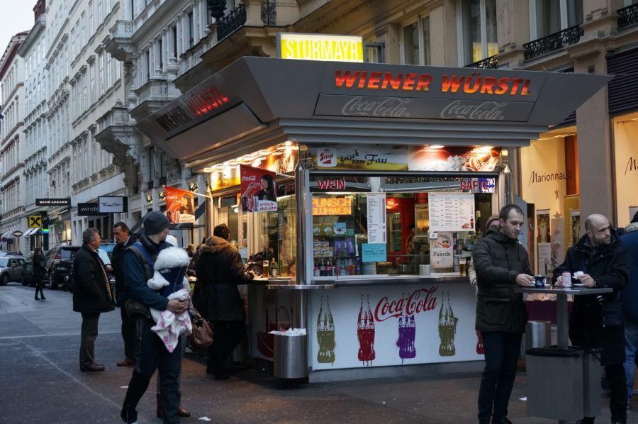 Vienna weiner wurst stand stall