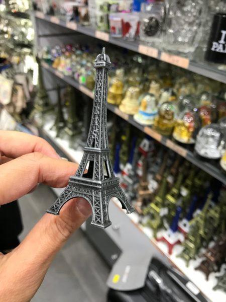 mini eiffel tower souvenir paris