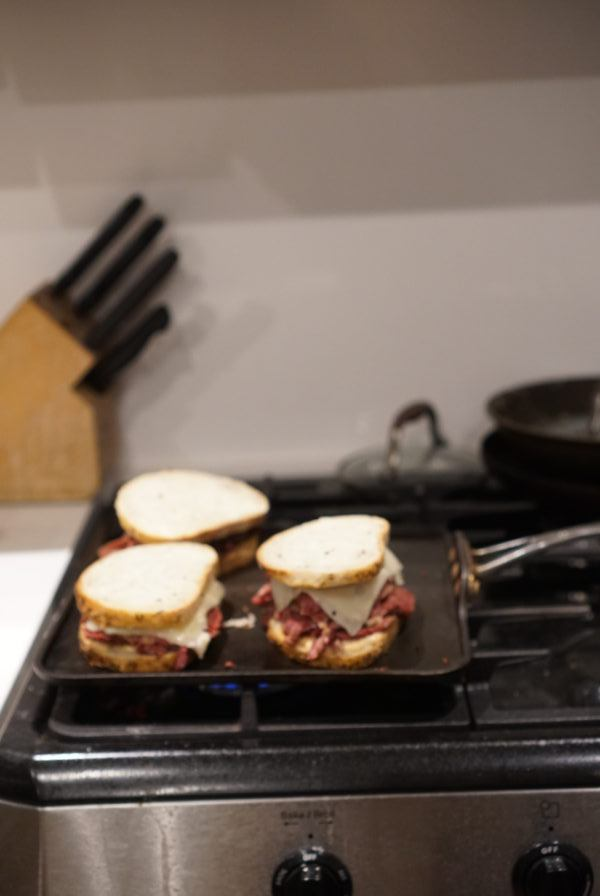 stove top grill pan reuben sandwiches