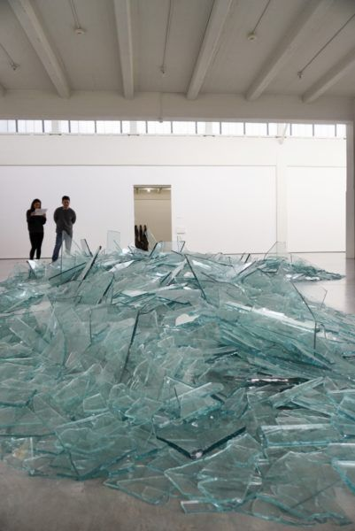 Map of Broken Glass, Robert Smithson, 1969. DIA Beacon.