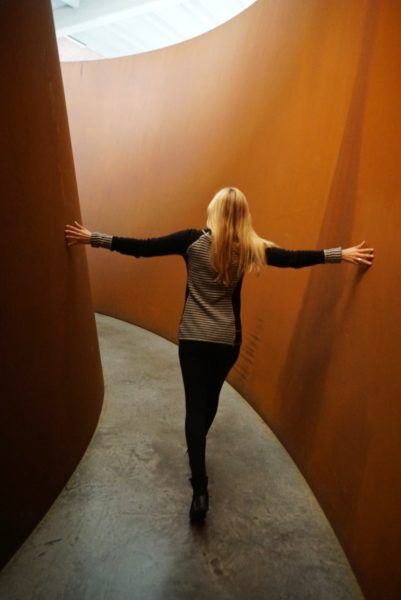 kind of experience-- you weren't sure where you would end up. Double Torqued Ellipse, Richard Serra (DIA Beacon)