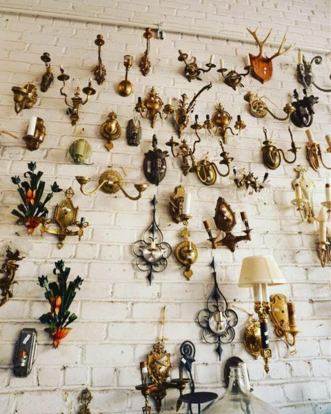 sconces williamsburg vintage thrift store brooklyn new york city best cheap