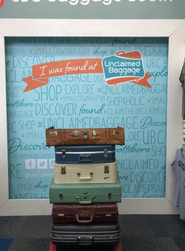 unclaimed baggage store Alabama photos what to buy