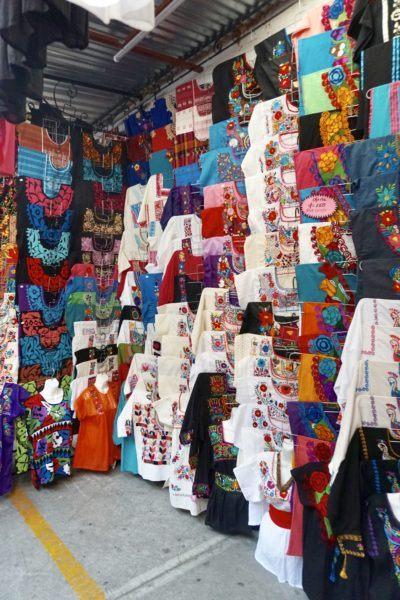 Huipils at La Cuidedela market in Mexico City