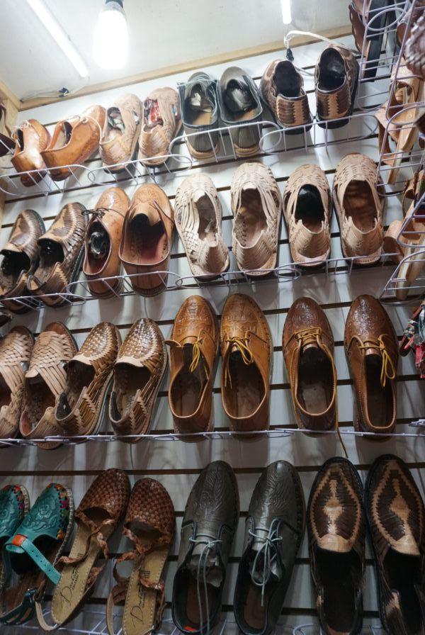 La Ciudedela market bargain shopping woven shoes