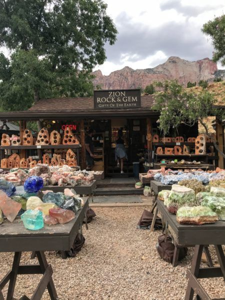 Best Souvenir Shopping at Zion National Park, gemstones and rocks