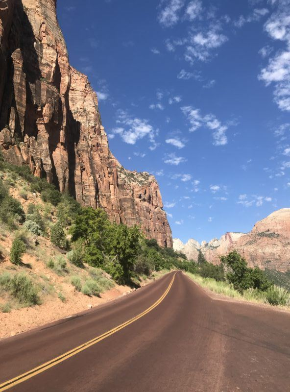 Zion National Park driving scenery photo