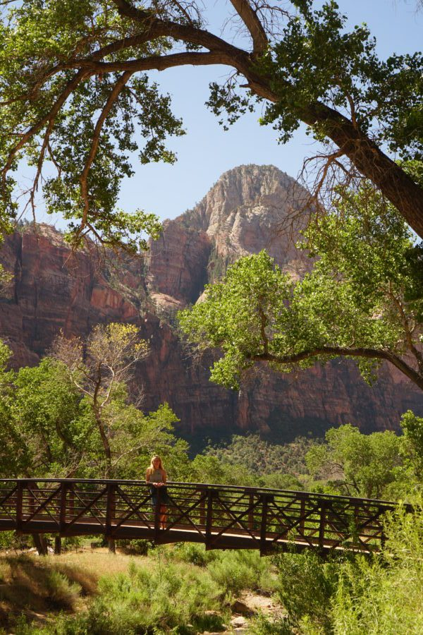 riverwalk hike zion national park easy photo opp instagram