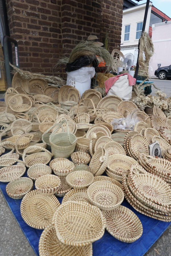 souvenir Sweetgrass baskets City market Charleston, South Carolina