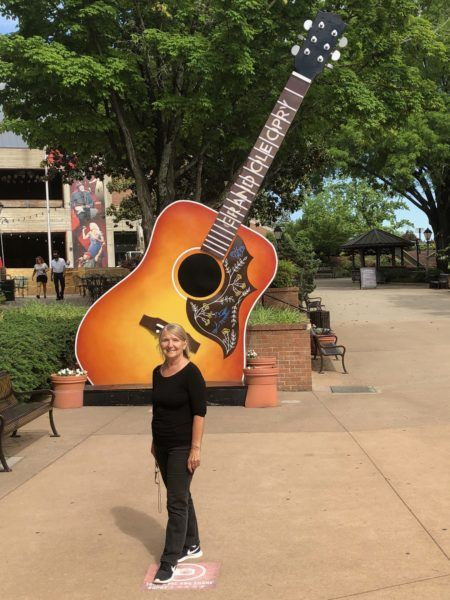 giant guitar grand old opry house nashville photo