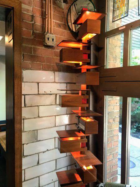 Frank Lloyd Wright inspired floor lamp designs at gift shop in Oak Park, Illinois #chicago #architecture