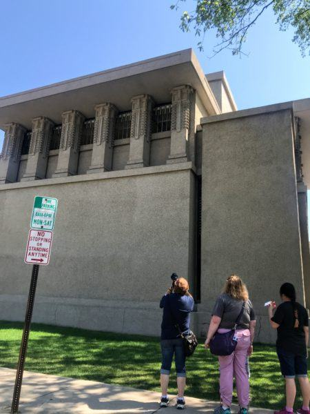 Unity Temple in Oak Park, Illinois, recently designated a Unesco site. Frank Lloyd Wright