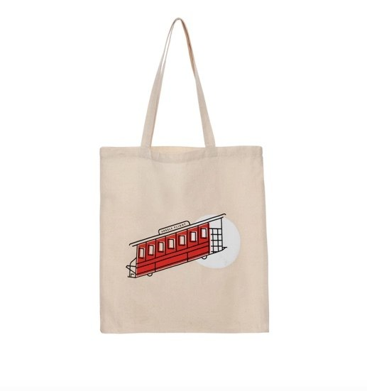 Angel's flight souvenir tote bag photos funicular