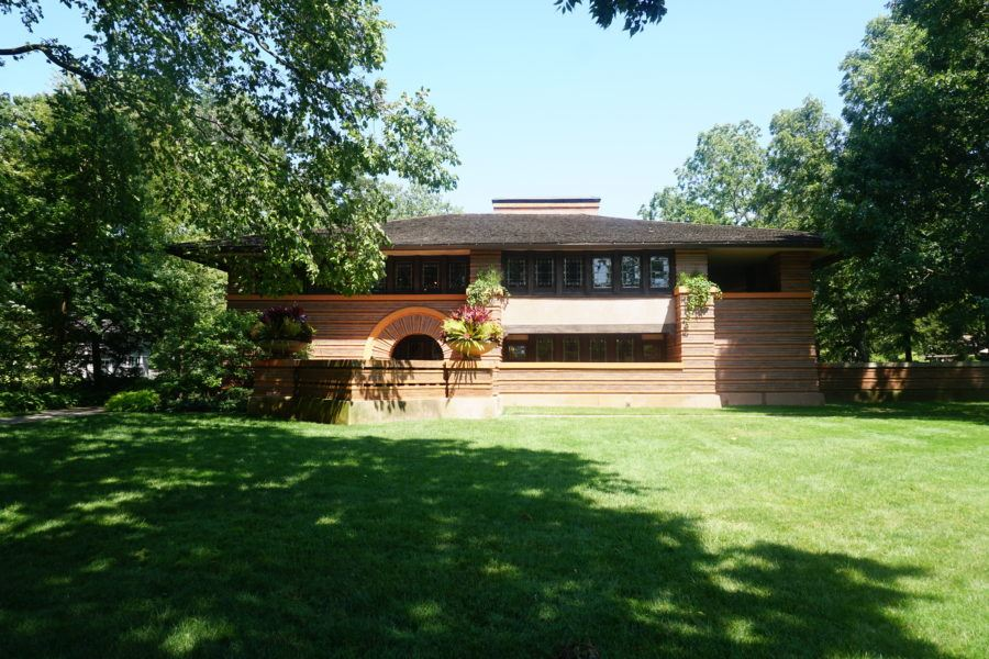 Frank Lloyd Wright home Oak Park, Illinois. ranch photo